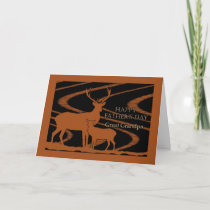 Father's Day for Great Grandpa, Deer in Field Card