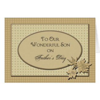 Father's Day - For Our Son Card