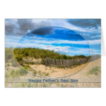FATHER'S DAY - FOR SON - BEACH/SHORE IMAGE CARD