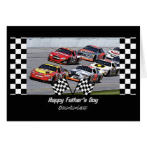 Father's Day for Son-in-Law Stock Car Racing Card