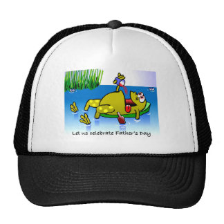 Father's Day Frog Trucker Hat