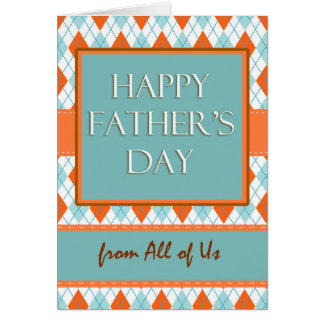 Father's Day from All of Us, Argyle Design Card