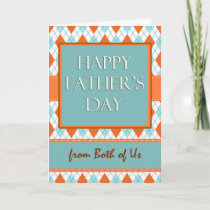 Father's Day from Both of Us, Argyle Design Card