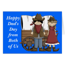 Father's Day from Both of Us - Western Card