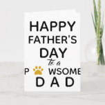 Father's Day from Dog - Cute Dog Dad Card
