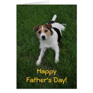 Fathers Day from the Dog Greeting Card