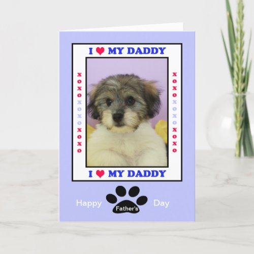 Fathers Day from the Dog __ Your Photo Card