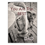 """Father's Day From the Pets"" Samson the Cat Photo Card"