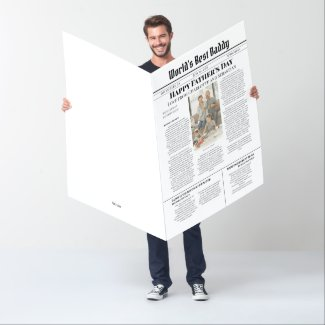 Fathers Day Front Page News Story Personalized Card