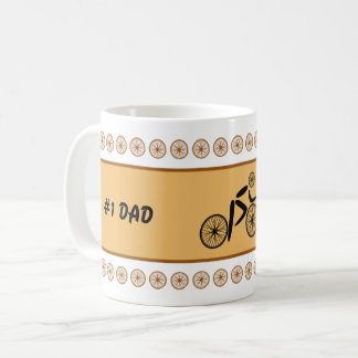 Fathers Day funny cyclist custom text Coffee Mug