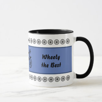 Fathers Day funny cyclist custom text Mug