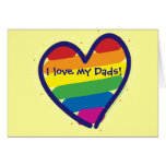 Father's Day Gay Pride Greeting Card