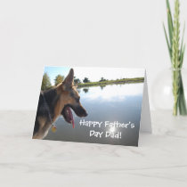 Father's Day German Shepherd Card