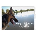 Father's Day German Shepherd Greeting Card