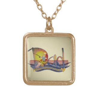 Father's day gift from son square pendant necklace