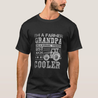 Fathers Day Gift Idea Grandpa Tractor Farmer T-Shirt