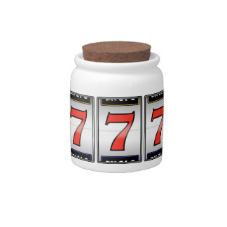 FATHERS DAY GIFT LUCKY 7's Casino Saving JAR Candy Jar