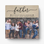 Father's Day Gift with Photo Plaque