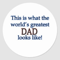 Father's Day gifts Classic Round Sticker