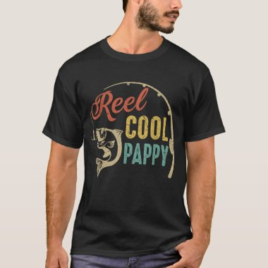 Father's Day Gifts Vintage Fishing Reel Cool Pappy T-Shirt