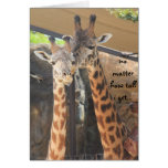 Fathers Day, giraffes, always look up to you dad! Greeting Cards