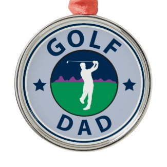 Fathers Day Golf Dad Christmas Tree Ornaments