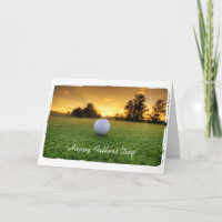 Fathers day golf greeting card