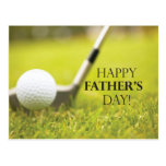Father's Day Golf Postcard