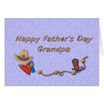 Father's Day Grandpa Cowboy Card