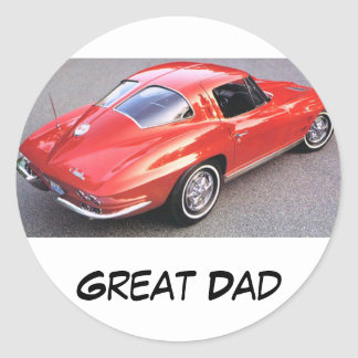 Father's Day Great Dad Classic Round Sticker