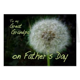 Father's Day Great Grandpa dandelion wish for Card