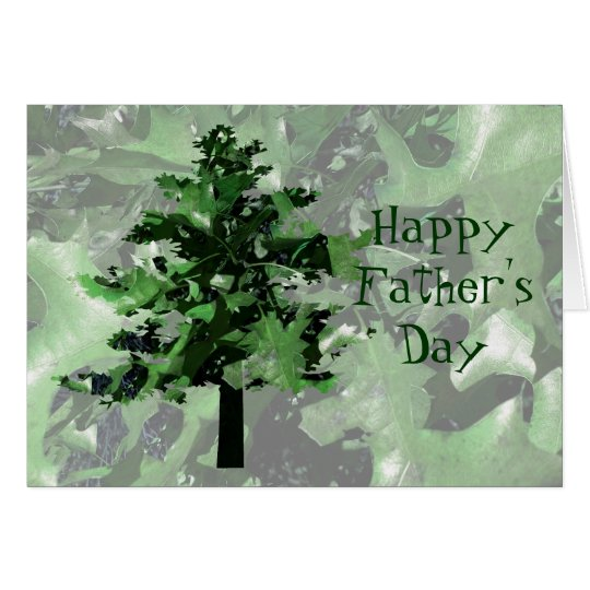 Father's Day Green Tree Silhouette Card