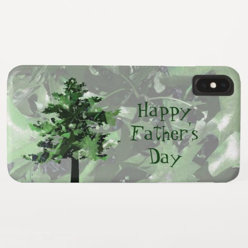 Father's Day Green Tree Silhouette iPhone XS Max Case