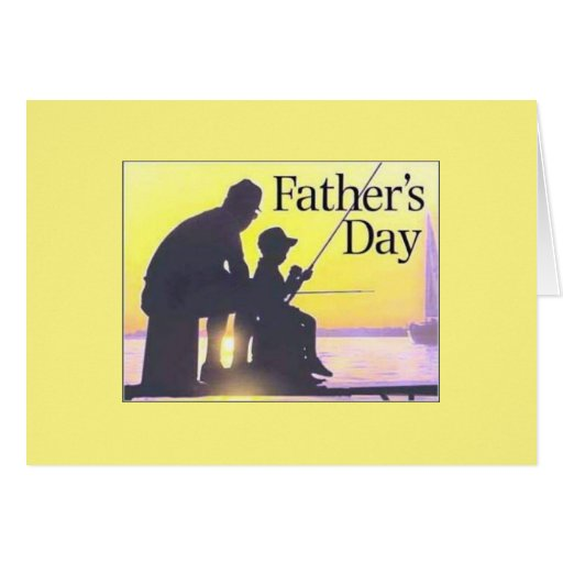 Father 39 s day greeting card fishing zazzle for Father s day fishing card