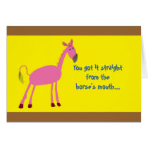 Father's Day Greeting Card with Horse