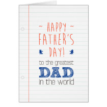 Father's Day Greeting Typography Design Card