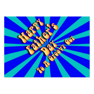 Father's Day Groovy Blues Retro For Groovy Guy Business Card Templates