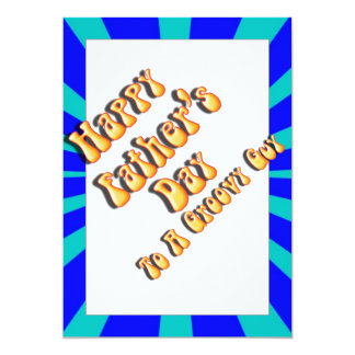 """Father's Day Groovy Blues Retro For Groovy Guy 5"""" X 7"""" Invitation Card"""
