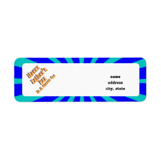 Father's Day Groovy Blues Retro For Groovy Guy Return Address Label