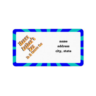 Father's Day Groovy Blues Retro For Groovy Guy Address Label