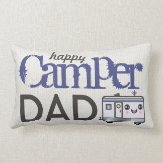 Father's Day Happy Camper Dad Camping Pillow