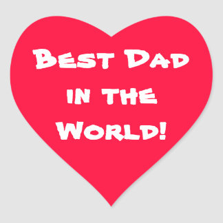 Father's Day Heart Sticker
