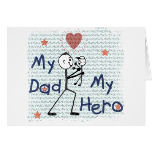 Father's Day Hero Dad Card