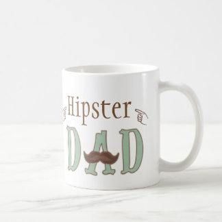 Fathers Day Hipster Dad Mustache Mug