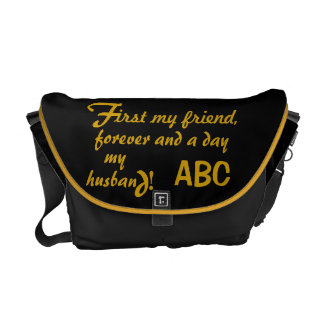 Father's Day His Initials Husband Courier Bags