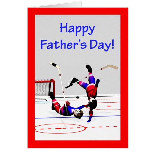 Father's Day Hockey Game Card