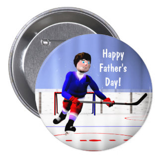 Fathers Day Hockey Overtime Buttons