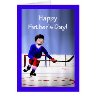 Father's Day Hockey Overtime Greeting Card