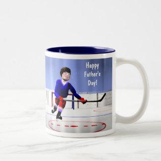 Father's Day Hockey Overtime Two-Tone Coffee Mug