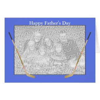 Father's Day Hockey Sticks (photo frame) Card